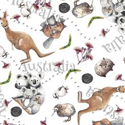 Cotton Fabric by QT Fabrics Kiwis and Koalas Collection Kiwis and Koalas Animal Toss